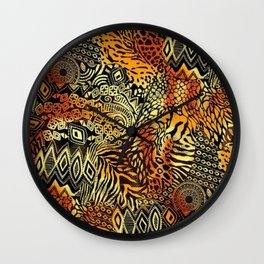Africa style pattern Wall Clock