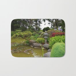 Japanese Garden Lantern Bath Mat