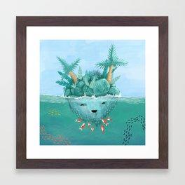 Island Tickles Framed Art Print