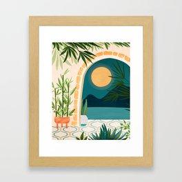 Full Moon Rising / Night Landscape Framed Art Print