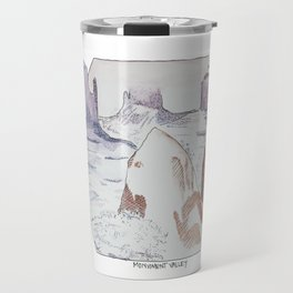 Winter in Monument Valley Travel Mug
