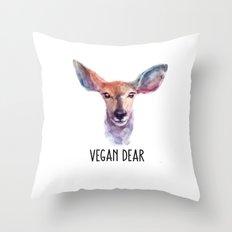 Vegan Dear Throw Pillow