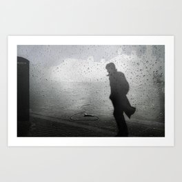 Walk Away in Silence Art Print