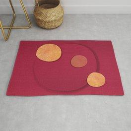 """Rose Gold & Cherry Polka Dots (Pattern)"" Rug"