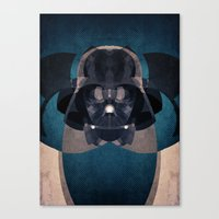 darth vader Canvas Prints featuring Darth Vader by lazylaves