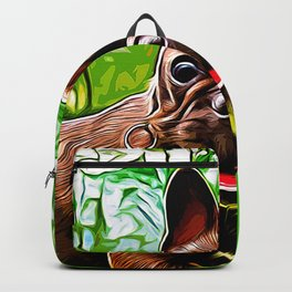 french bulldog basketball vector art Backpack