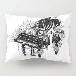 Piano, Melody of life Pillow Sham