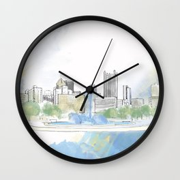 Pittsburgh Point Wall Clock