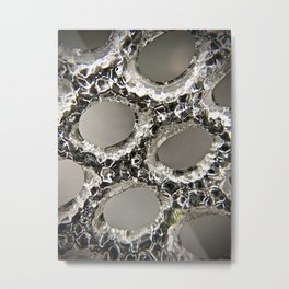 Chained in ice Metal Print