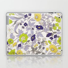 floral garden - blues and greens Laptop & iPad Skin