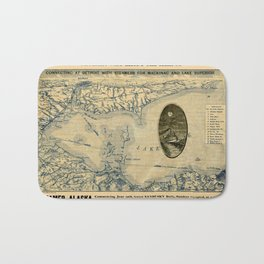 Map Of Lake Erie 1876 Bath Mat