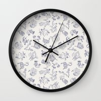 zodiac Wall Clocks featuring Zodiac Constellations by zizilka