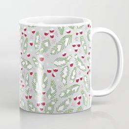 Winter Berries in Gray Coffee Mug