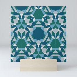 Aquamarine kaleidoscope Mini Art Print