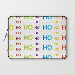Merry Christmas Ho Ho Ho typography Laptop Sleeve