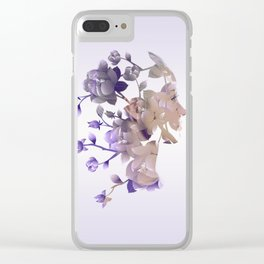 Flower Hair - Double Exposure Poster Clear iPhone Case