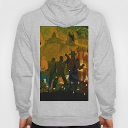 From Slavery thru Reconstruction - 135th Street Mural NY Public Library by Aaron Douglas Hoody