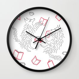 Reading Wolves Wall Clock