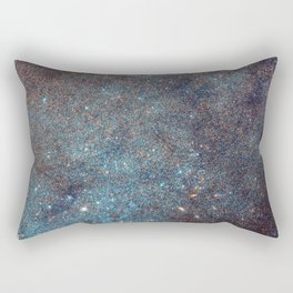 Awesome Andromeda Galaxy Photograph by NASA Hubble Telescope Rectangular Pillow