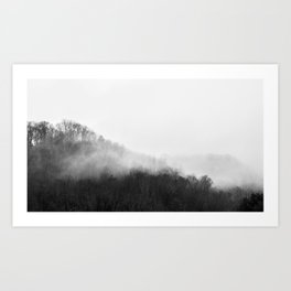 The Misty Foothills Art Print