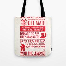 When Life Gives You Lemons Tote Bag