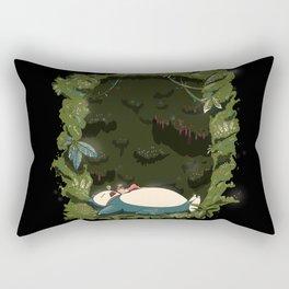 Sleeping with Snorlax Rectangular Pillow