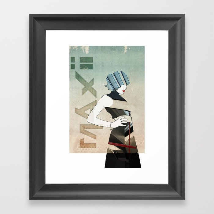 Maxii Girl Framed Art Print