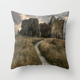 Forgotten castle in Estonia Throw Pillow