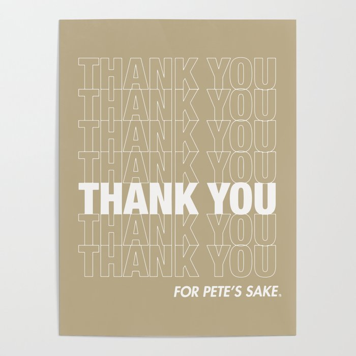 thank you poster by fxpxs society6