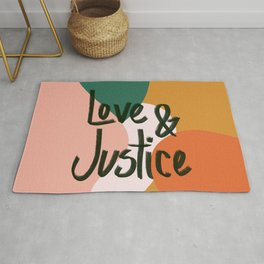 Love and Justice in Sunrise Rug