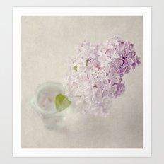 Textured Lilac  Art Print