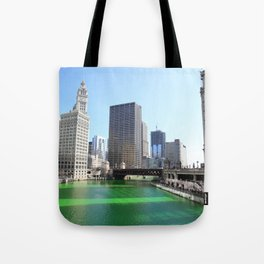 Chicago River Green for St. Patrick's Day Tote Bag