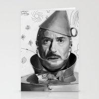robert downey jr Stationery Cards featuring Robert Downey Jr by Pazu Cheng
