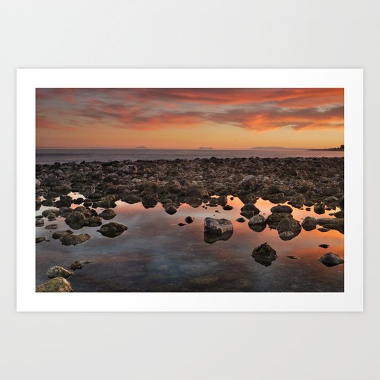 Gibraltar, Africa and Spain in one photo Art Print