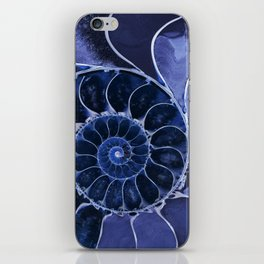 Blue fossil iPhone Skin