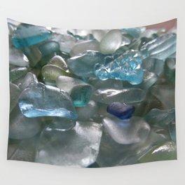 Ocean Hue Sea Glass Assortment Wall Tapestry