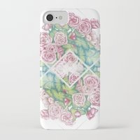 leah flores iPhone & iPod Cases featuring Flores by Barlena