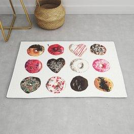 Assorted Donuts Valentine's Day Krispy Kreme Sprinkles Hearts Rug