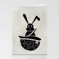 rabbits Stationery Cards featuring rabbits by gazonula