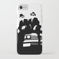 blues brothers iPhone & iPod Cases featuring Blues Brothers by Greg Koenig
