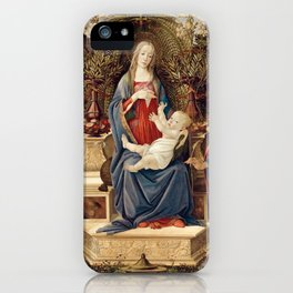 Madonna with Saints by Sandro Botticelli, 1485 iPhone Case