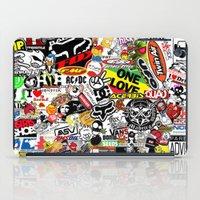 sticker iPad Cases featuring Sticker Bomb by SOPHIA FREITAS