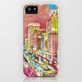 Downtown Providence, Rhode Island Portrait by Jeanpaul Ferro iPhone Case