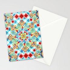Gingham Festival Mandala Stationery Cards