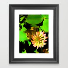 Bee with Clover Framed Art Print
