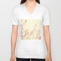 lavender V-neck T-shirts featuring Lavender by Ana Guisado