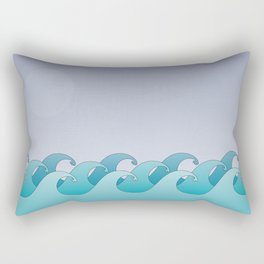 Waves in the Ocean Rectangular Pillow