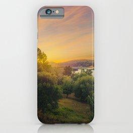 Clear Lake Sunset | Lake County California Landscape Sunset Travel Photography iPhone Case