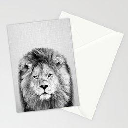 Lion 2 - Black & White Stationery Cards