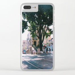 Street Views in Lisbon Clear iPhone Case